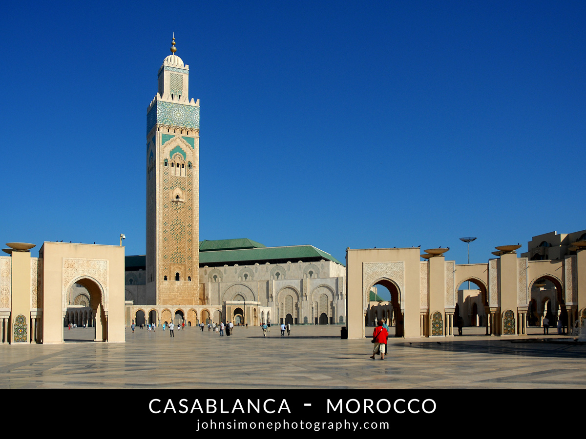 A photo montage by John Simone Photography on Casablanca, Morocco