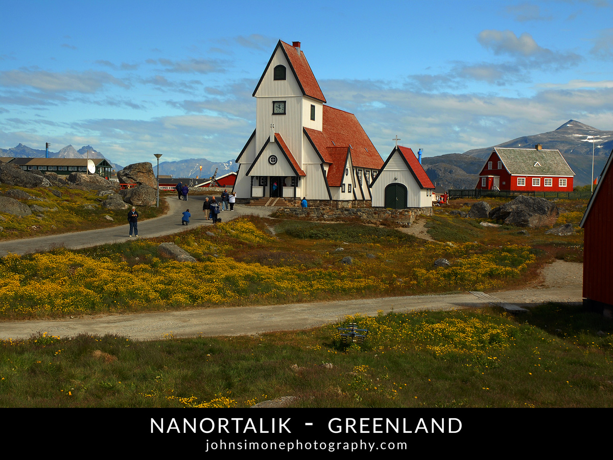 A photo montage by John Simone Photography on Nanortalik, Greenland