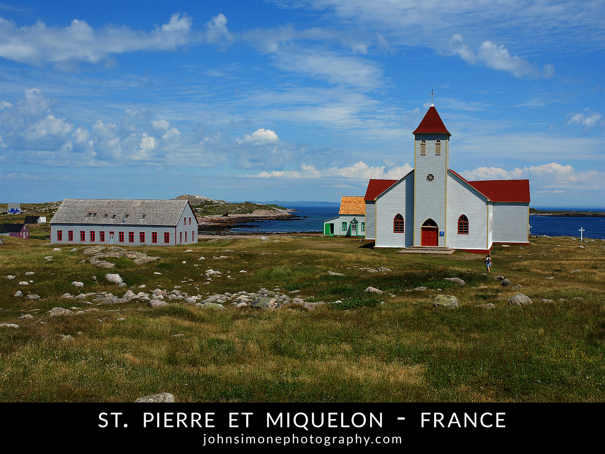 A photo montage by John Simone Photography on St. Pierre et Miquelon, France
