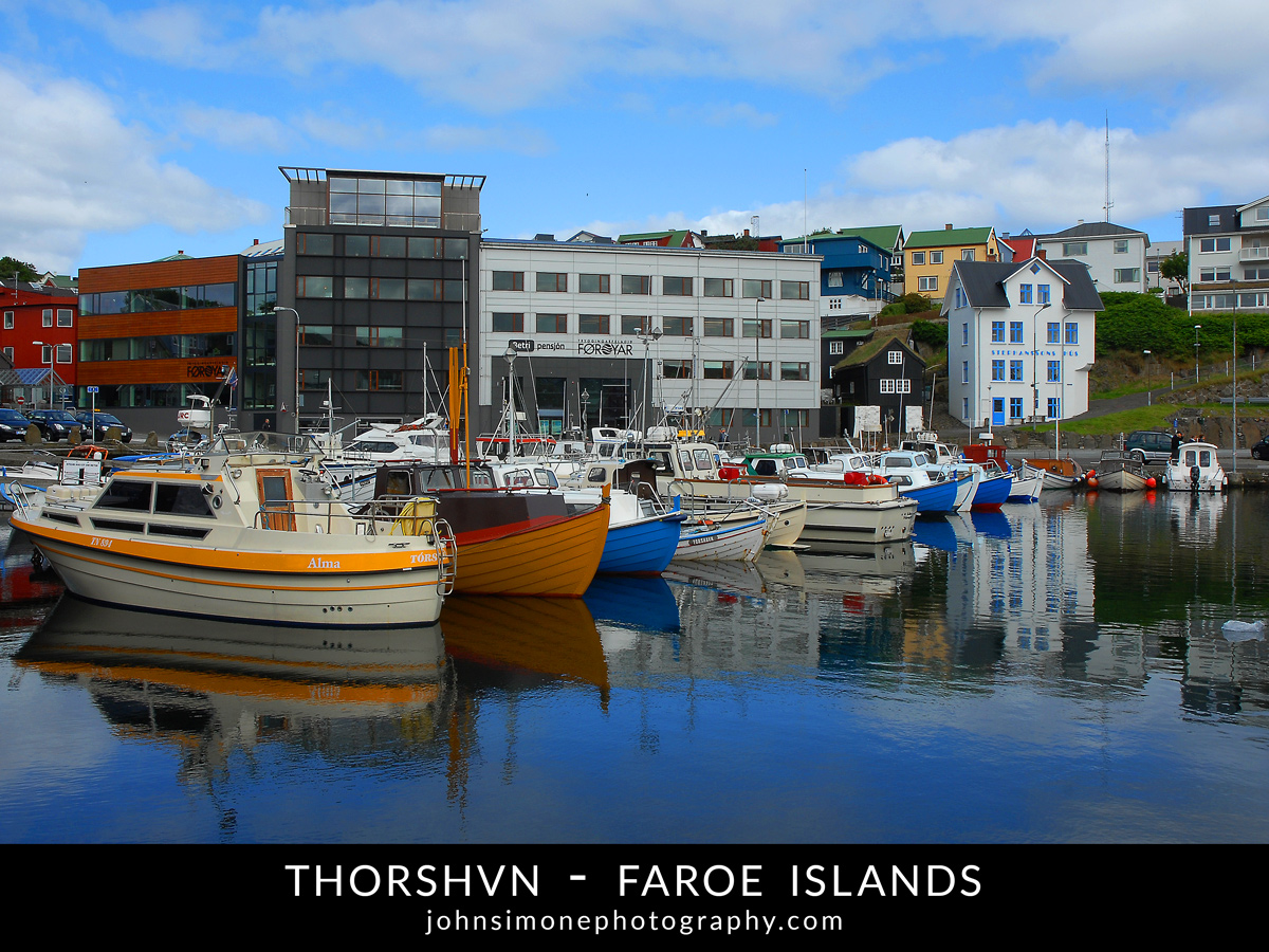 A photo montage by John Simone Photography on Thorshvn, Faroe Islands