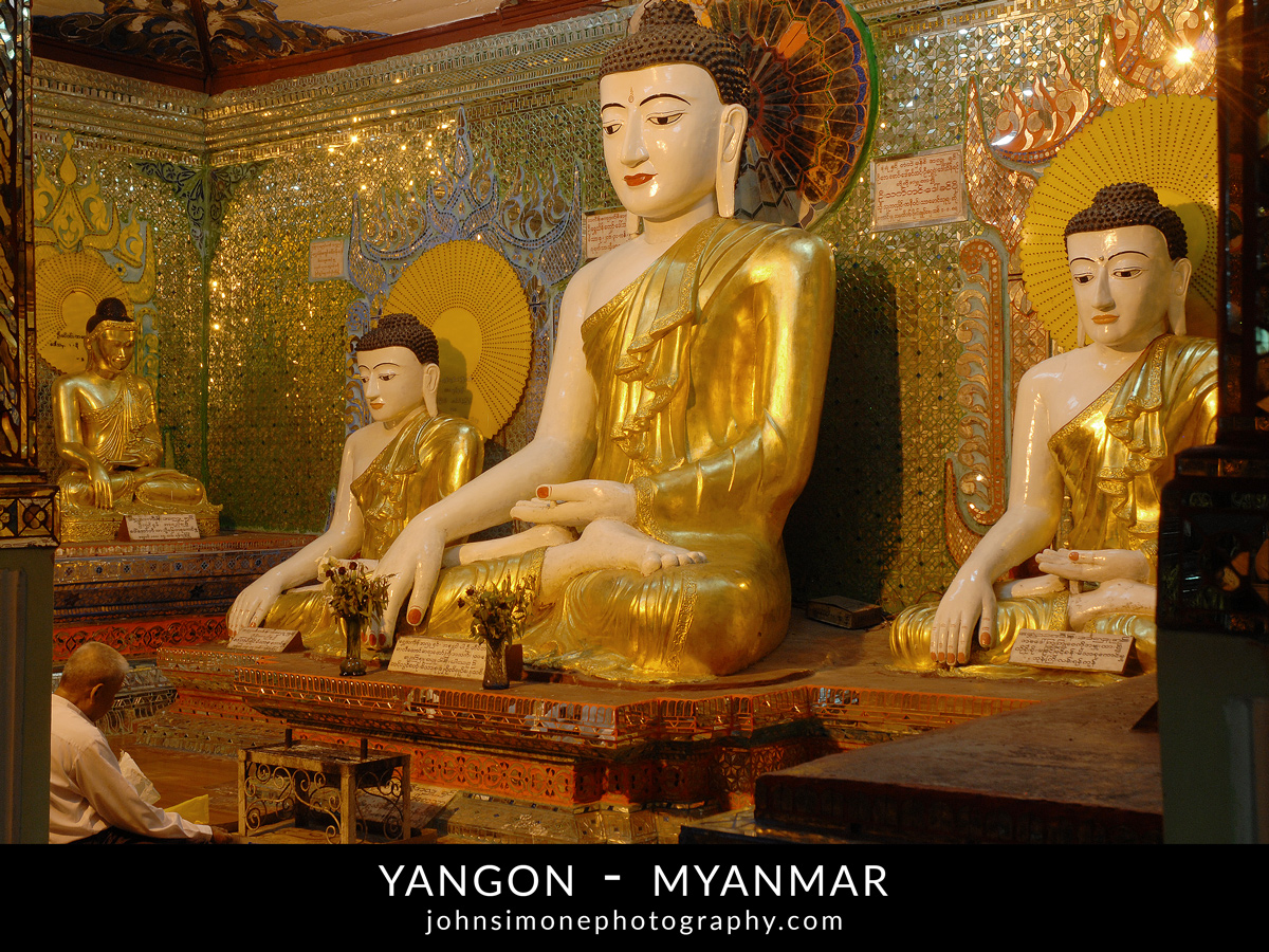 A photo montage by John Simone Photography on Yangon, Myanmar
